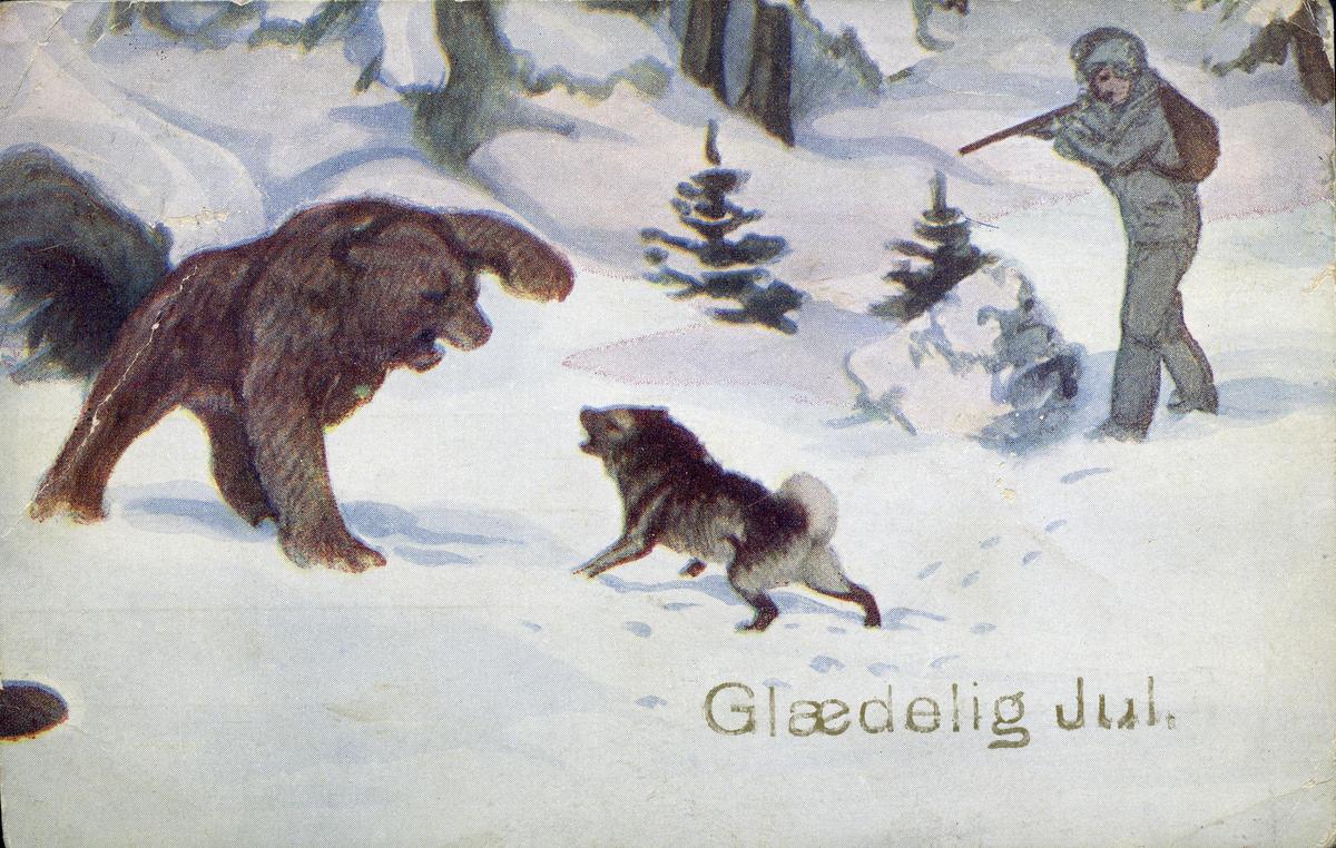 Postkort med bjørnemotiv (Foto/Photo)
