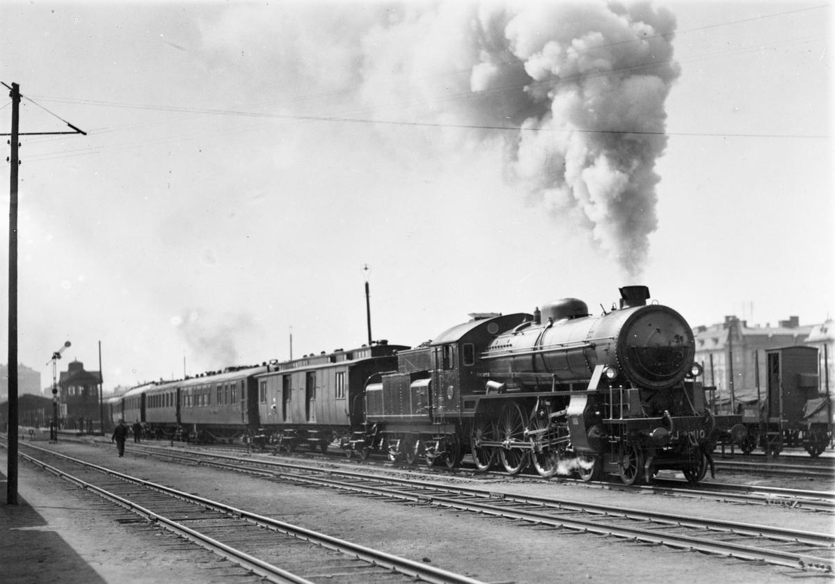 Bergslagernas Järnvägar, BJ H3s 110 med provtåg
