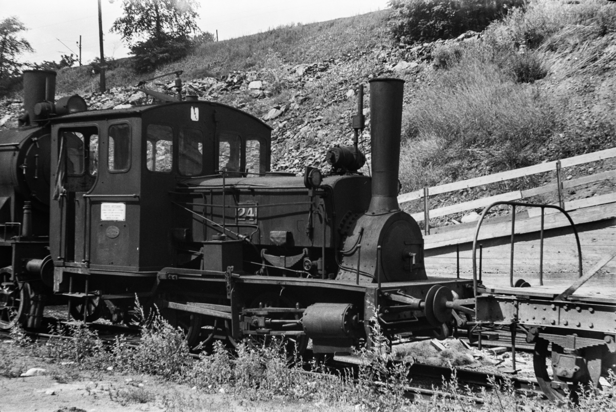 Hensatt damplokomotiv type 7a nr. 24 i Lodalen i Oslo.