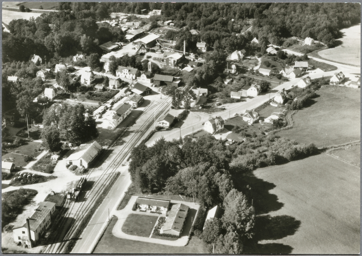 Flygfoto över Arkelstorp.