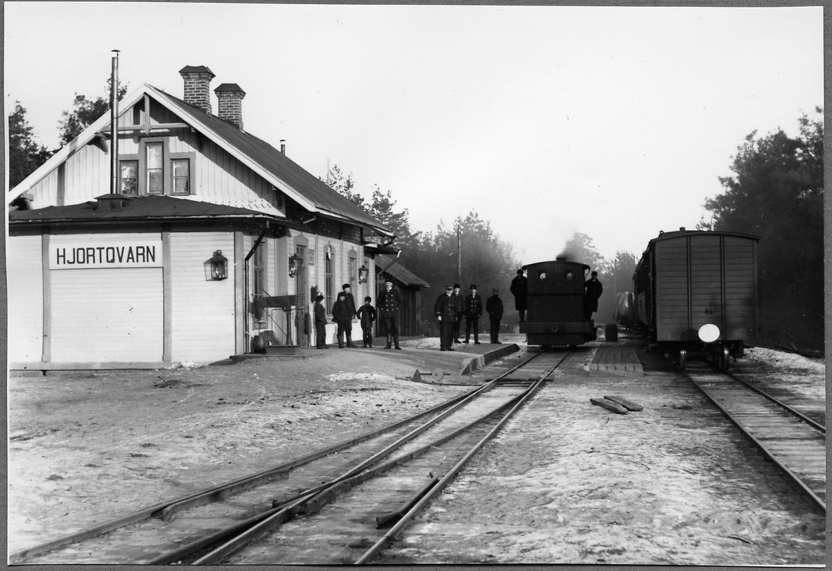 Hjortkvarn station vid sekelskiftet.
