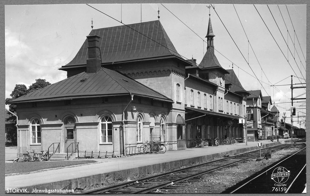 Storvik Järnvägsstation.