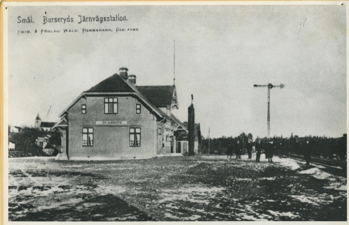 Smålands Burseryd Station 1906.