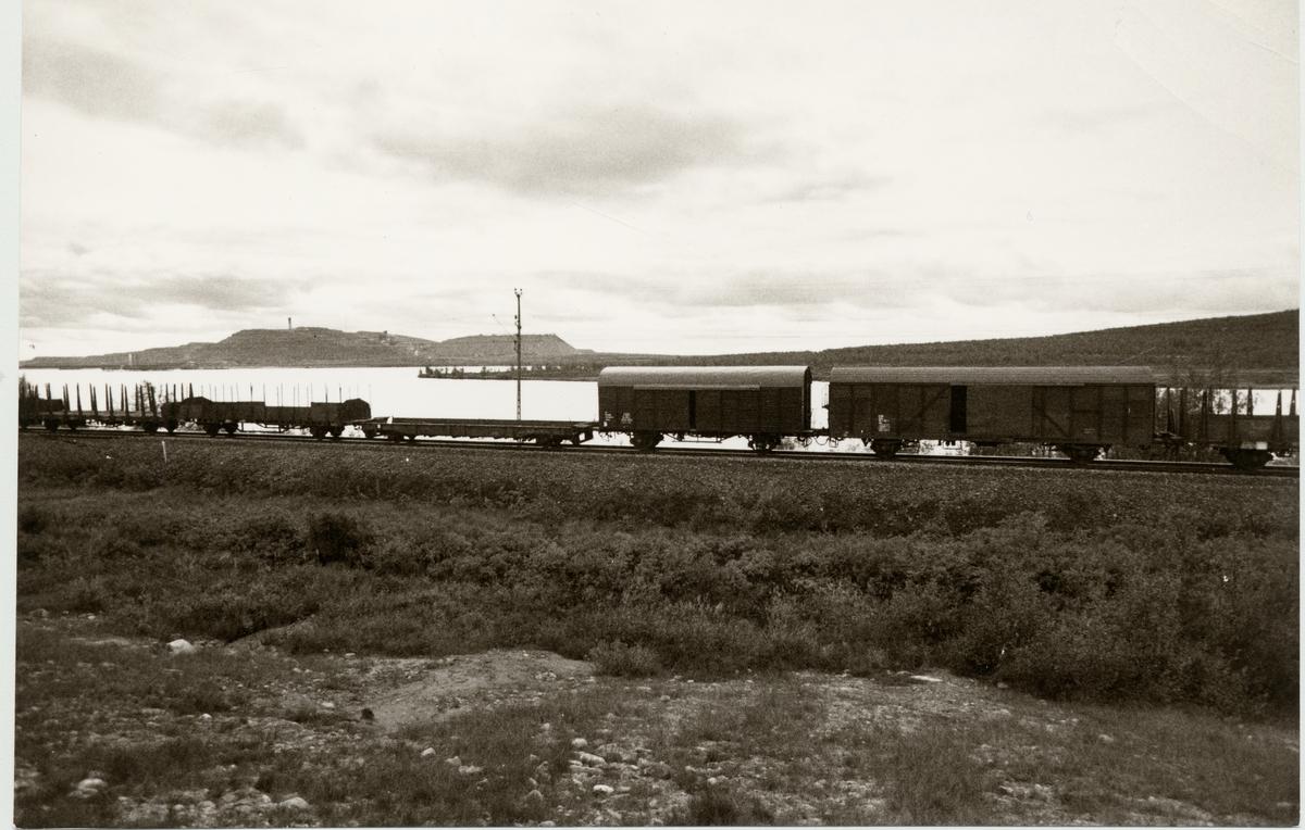 Vy över en del av Kiruna.
