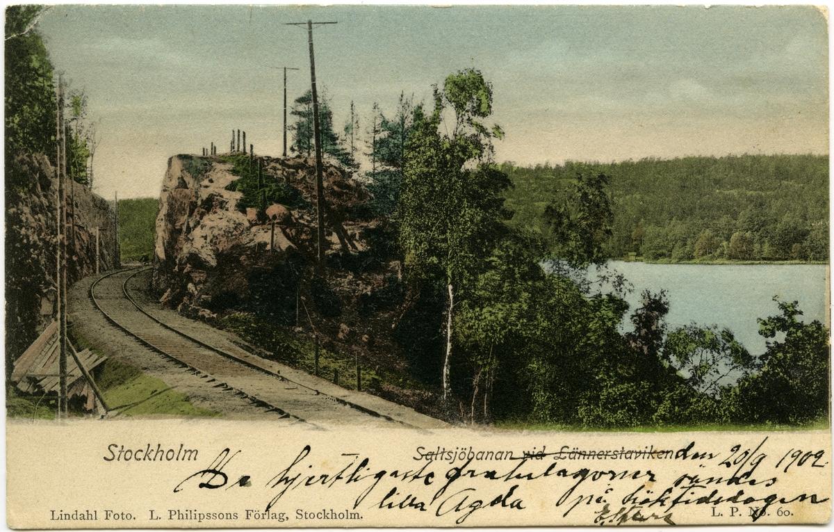 Saltsjöbanan vid Lännerstaviken.