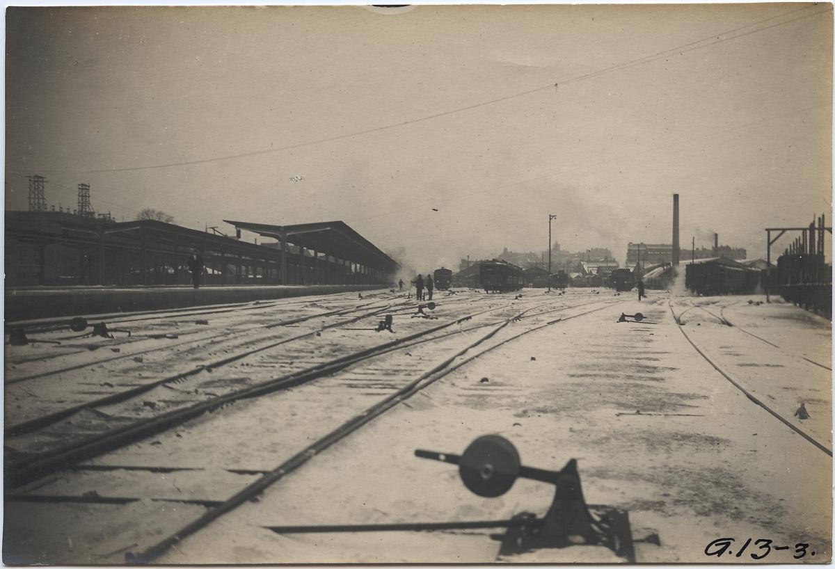 Göteborg station och bangård.