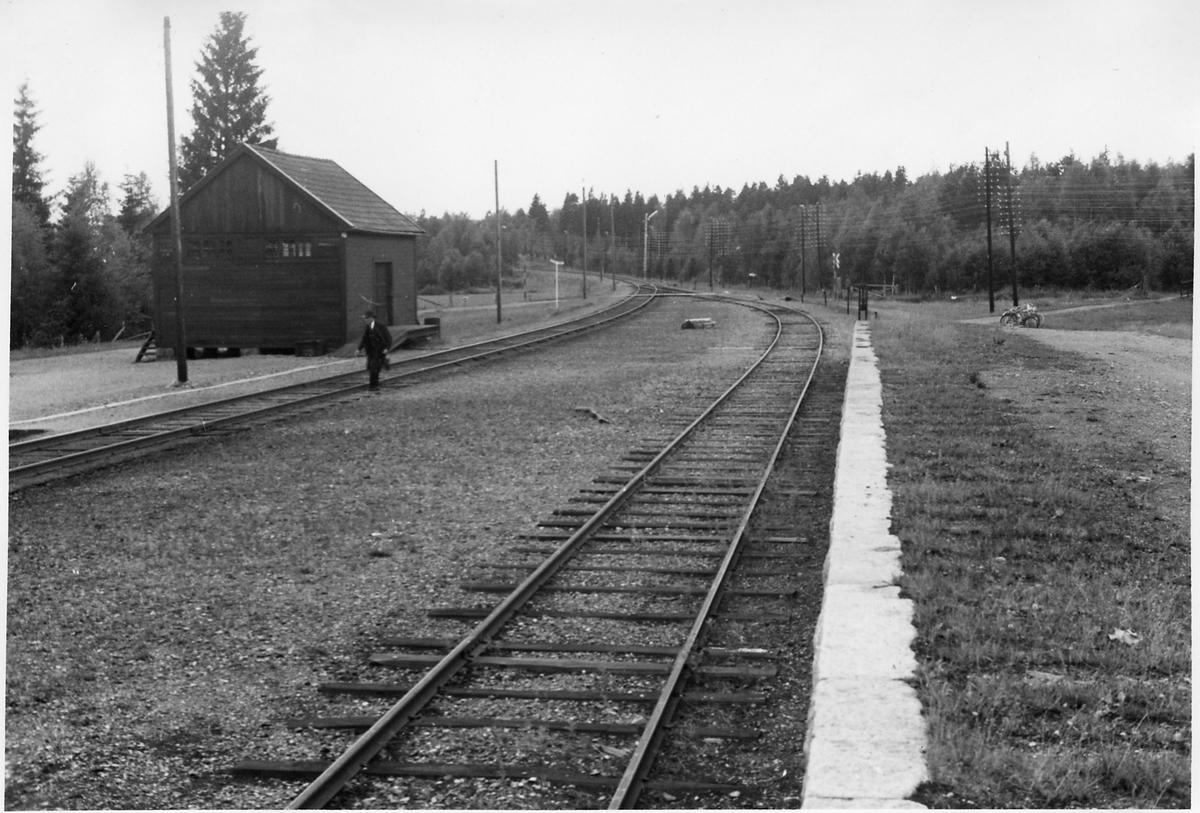 Gonäs bangård i riktning söderut.