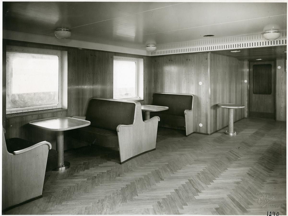 Interiör från tågfärjan M/S Malmöhus.