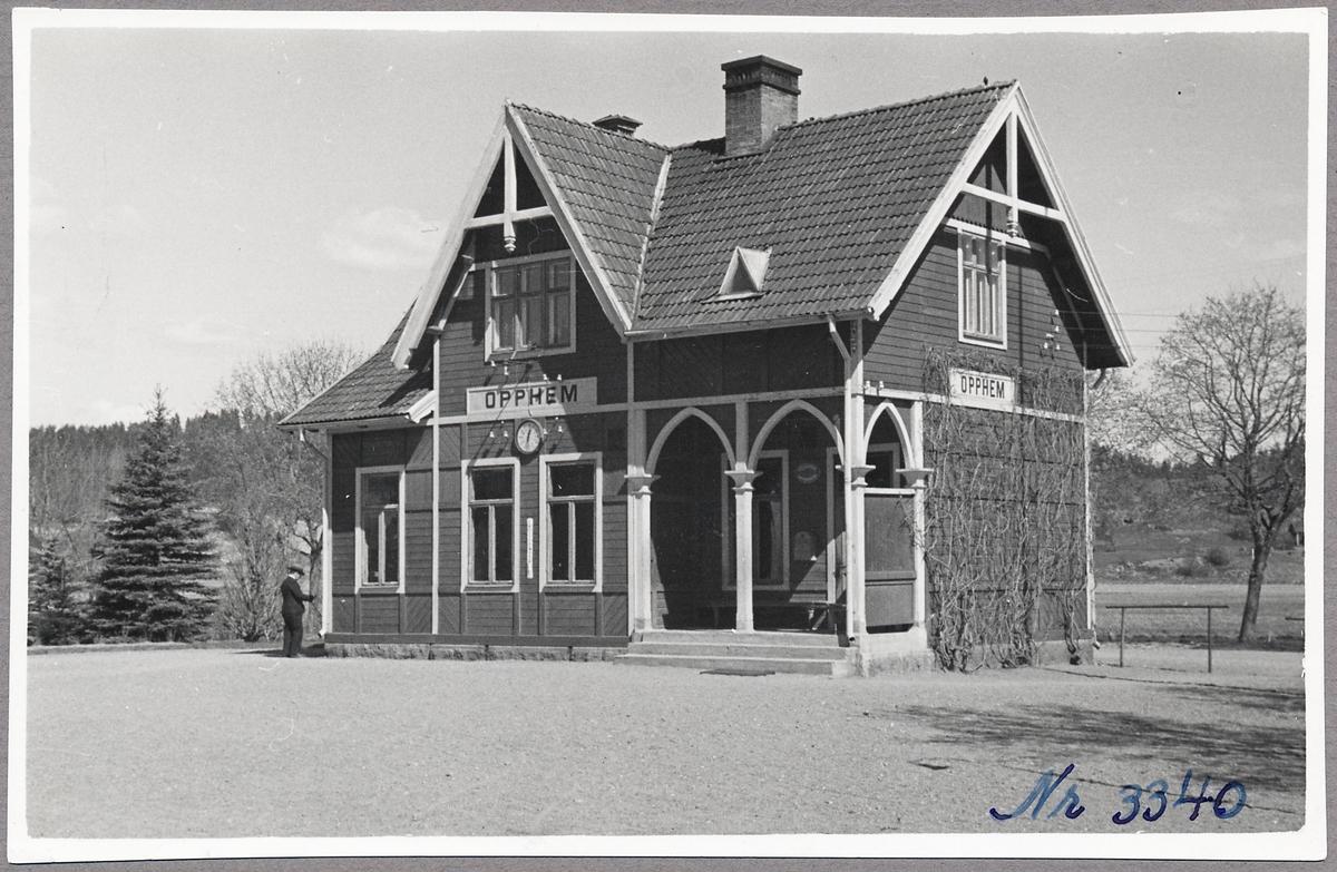 Stationshuset i Opphem.