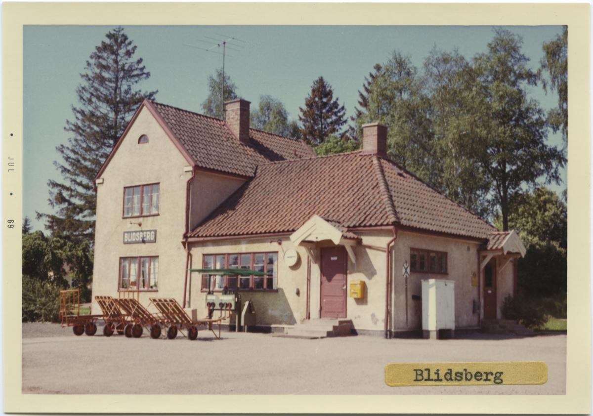 Vy över Blidsberg Station. Byggnads år 1906