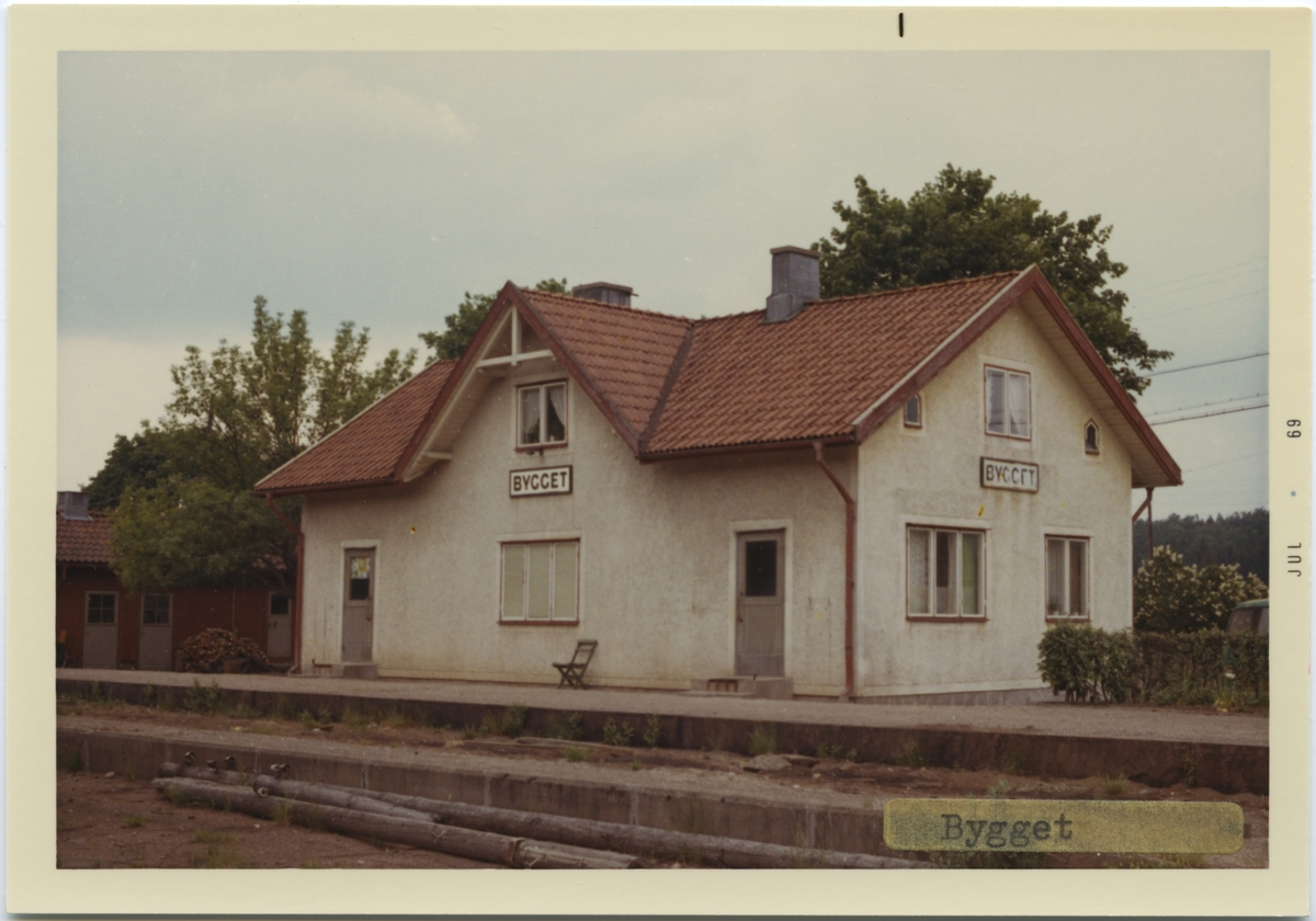 Bygget station.