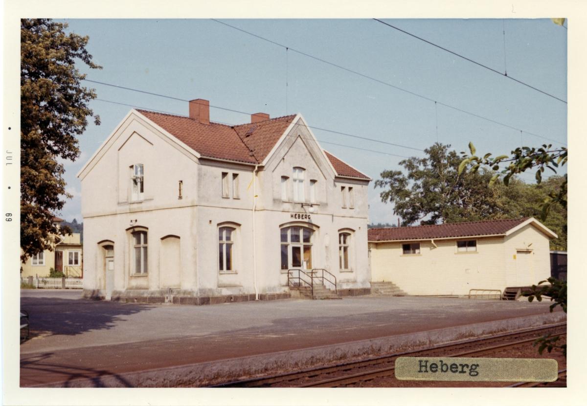Stationhuset byggdes 1886.