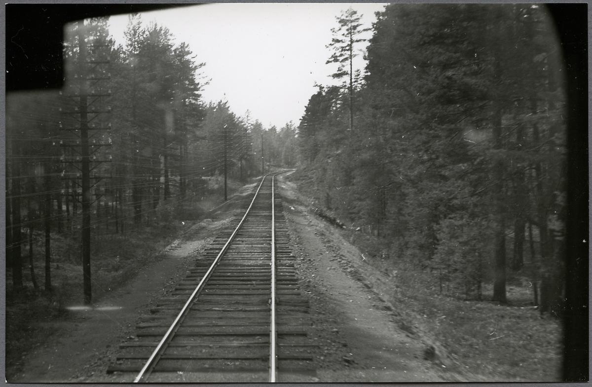 Vy över järnvägsspåret på linjen Vansbro-Särna-Mora-Älvdalen.