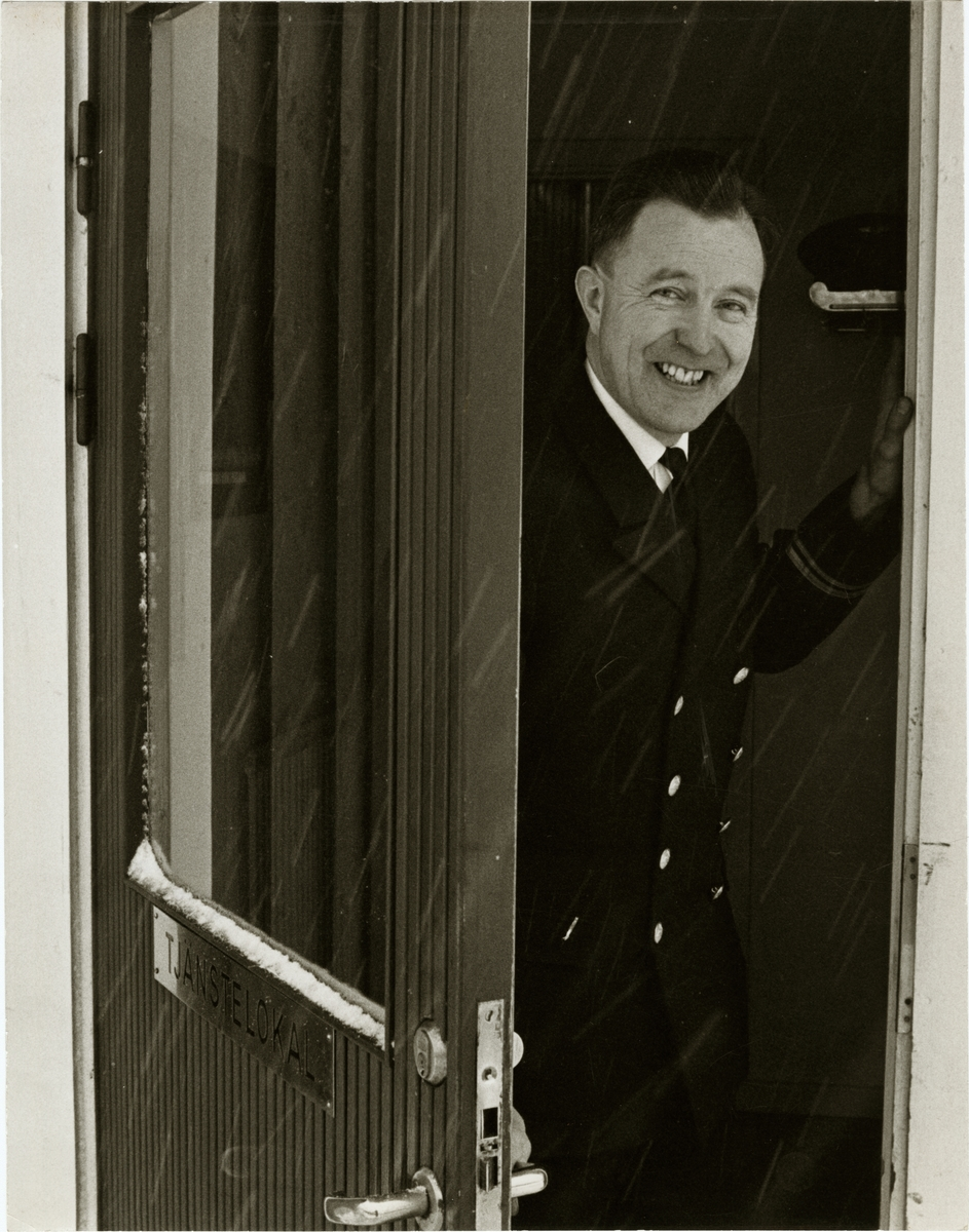 Emil Klerhult, platsföreståndare vid stationen i Vrena.