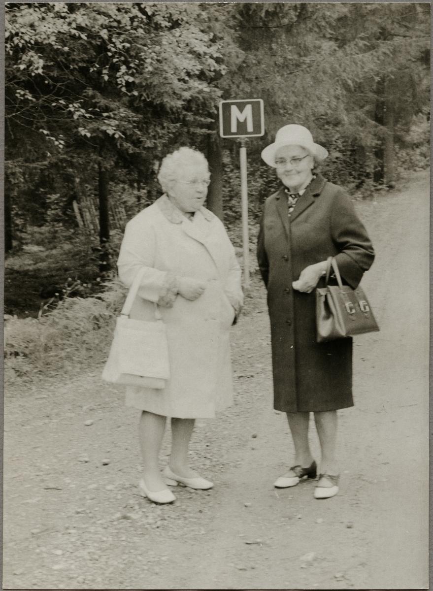 Två damer.