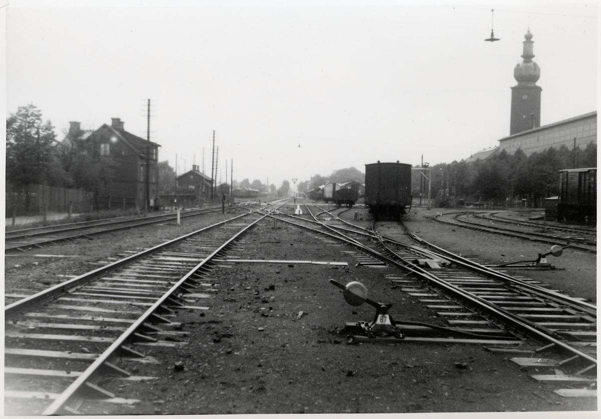 Del av bangården i Västerås.