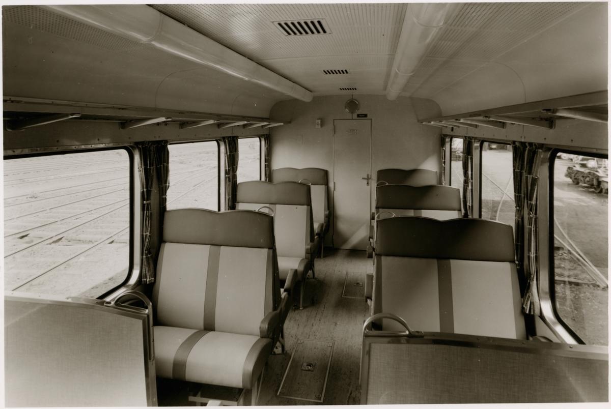 Interiörbild av Köln - Bonner Eisenbahnen, KBE ET 201 vid besök maj 1960.
