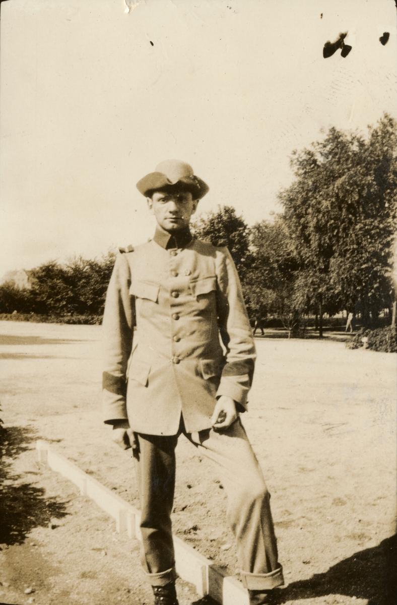 Porträtt av en soldat.