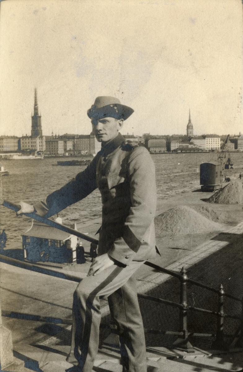 Soldat vid Söder Mälarstarand i Stockholm.