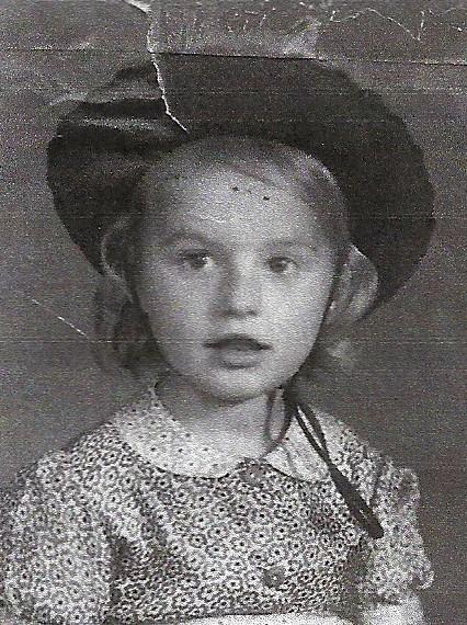Marianne Faye som barn.