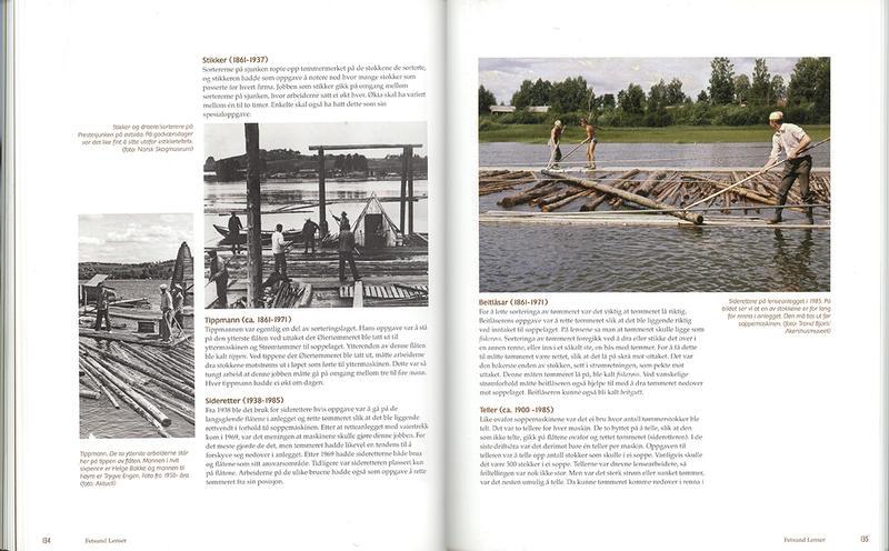 Foto av oppslåtte sider fra boka Stemmer fra elva.