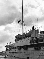 S/S 'Bergensfjord' liggende ved kai i Glasgow 1944
