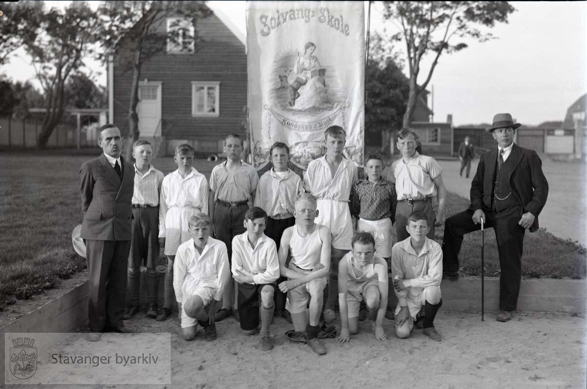 Deltakere fra Solvang skole.