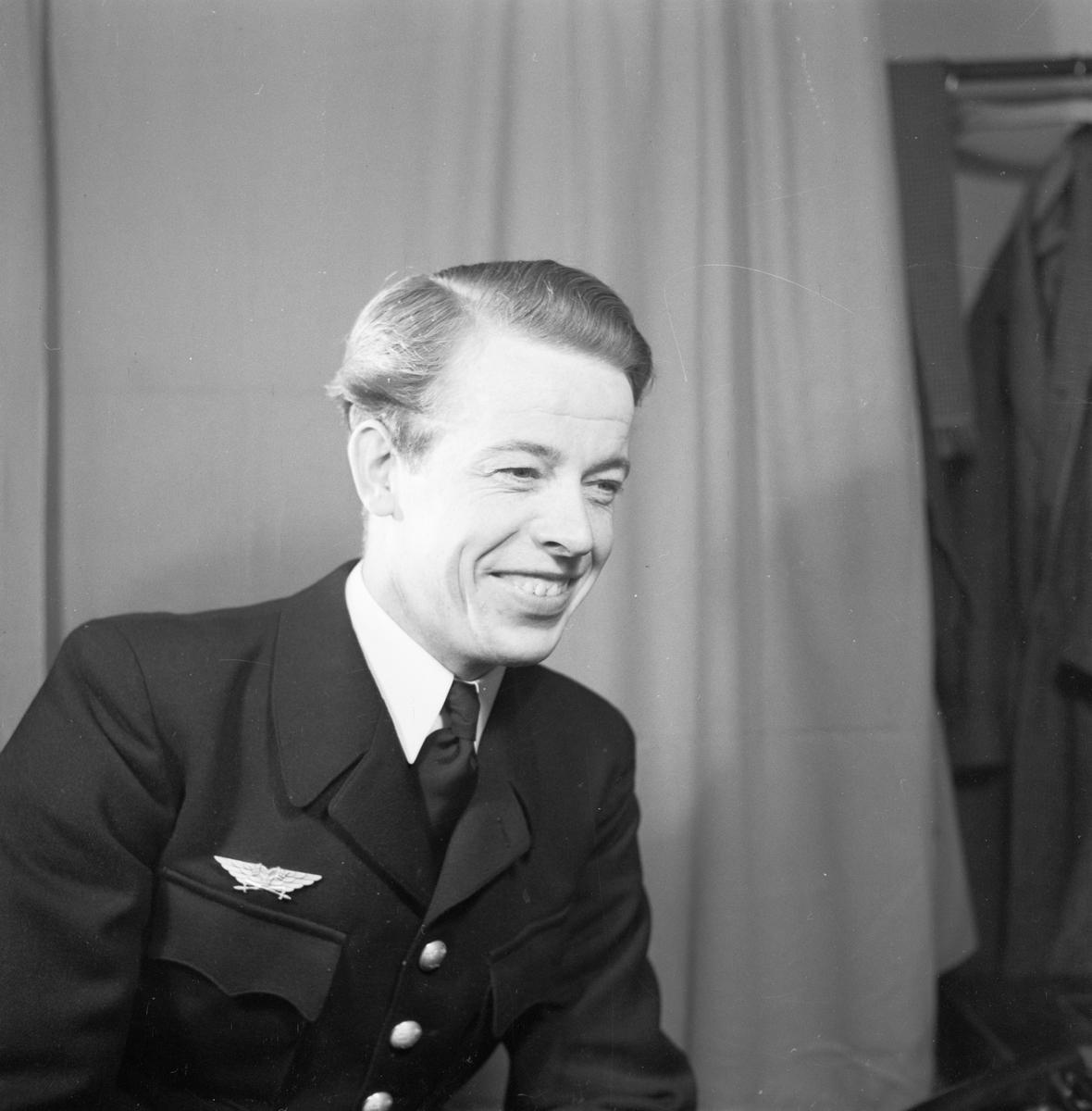 Carl-Oskar af Uhr, Uppsala, januari 1948