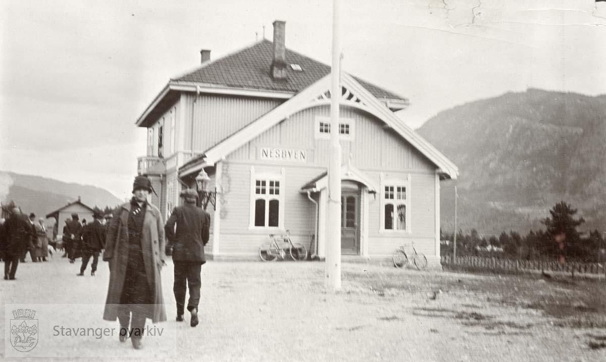 Nesbyen stasjon langs Bergensbanen