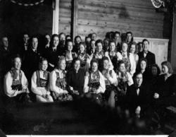 Avsluttningsfest på kurs i matstell på Øygardane Skule.