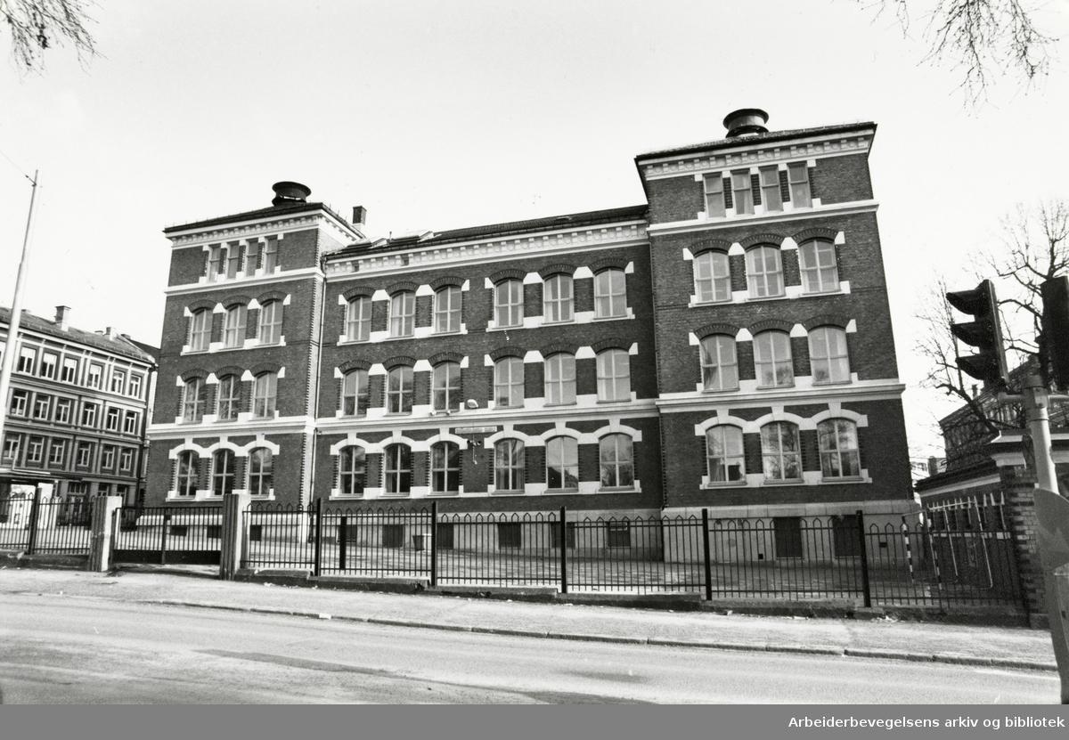 Grünerløkka skole. Februar 1991