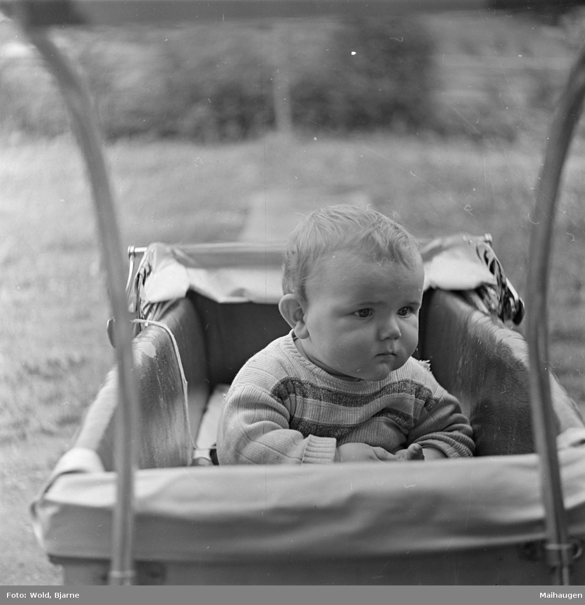 Arne Wold i barnevogn