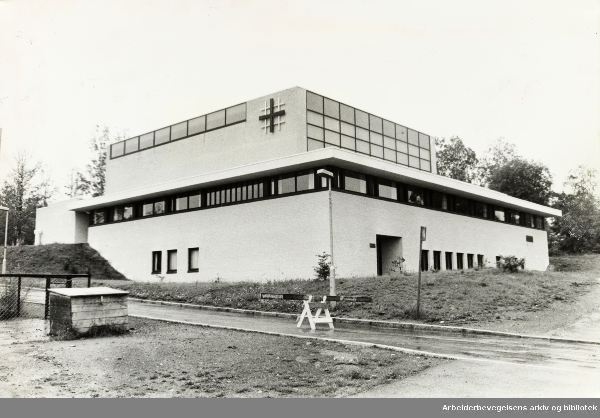 Haugerud kirke. Juli 1978