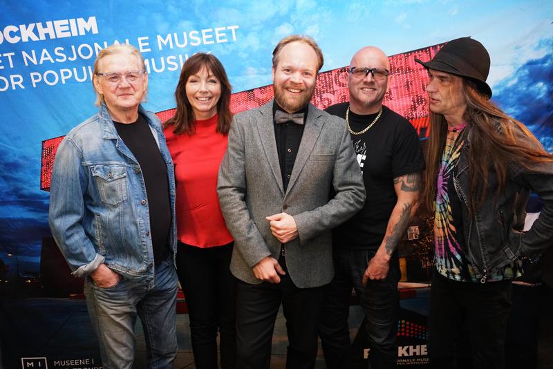 Finn Kalvik, Anita Skorgan og TNT innlemmes i Rockheim Hall of Fame 16. oktober. Her med programleder Jon Niklas Rønning. (Foto/Photo)