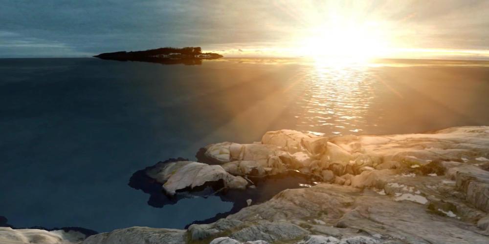 Fra Edvard Munchs Solen i VR.