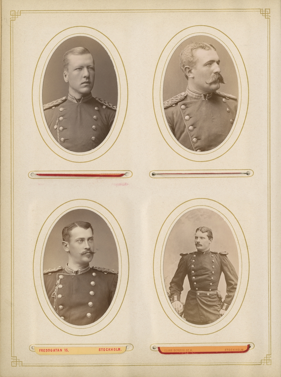 Porträtt av Gustaf Sahlin, officer vid Gotlands nationalbeväring I 27.
