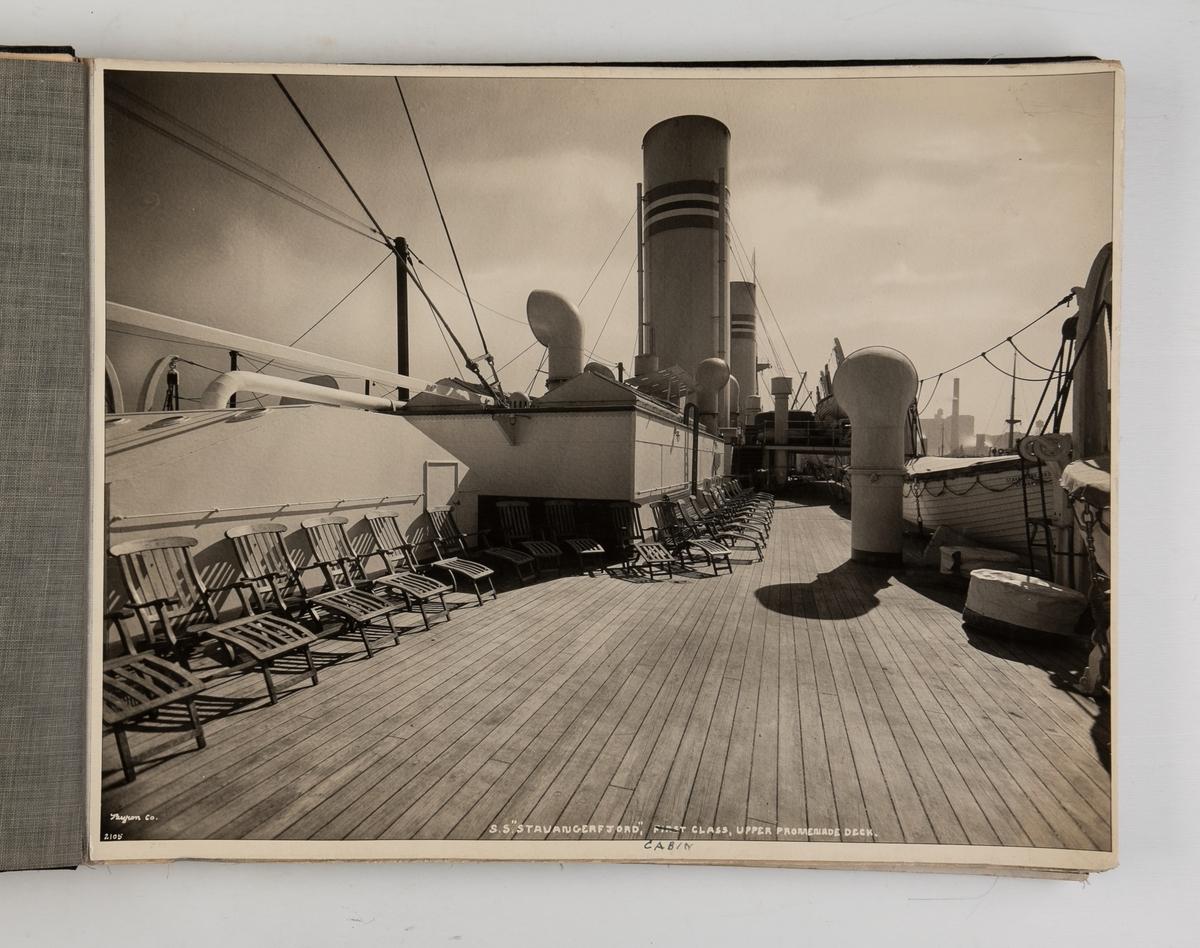 Album med interiørbilder fra D/S 'Stavangerfjord'
