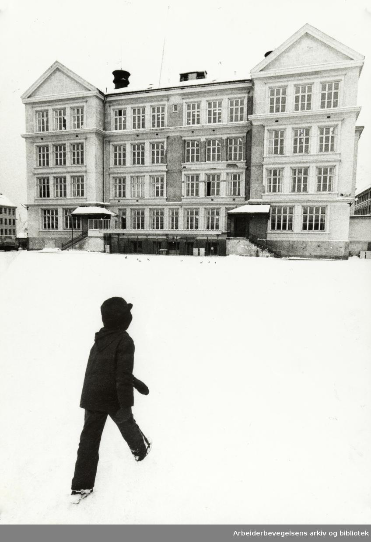 Kampen skole. November 1973