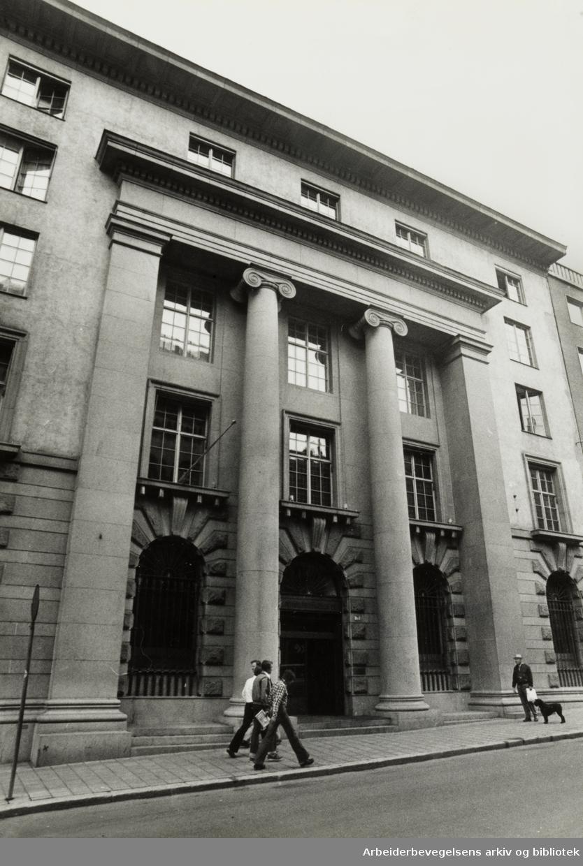 Kirkegata. Den norske Creditbank. Juli 1977