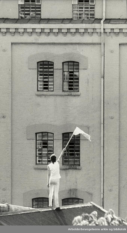 Kretsfengselet, Botsfengselet. Eksteriør. 16. juli 1987