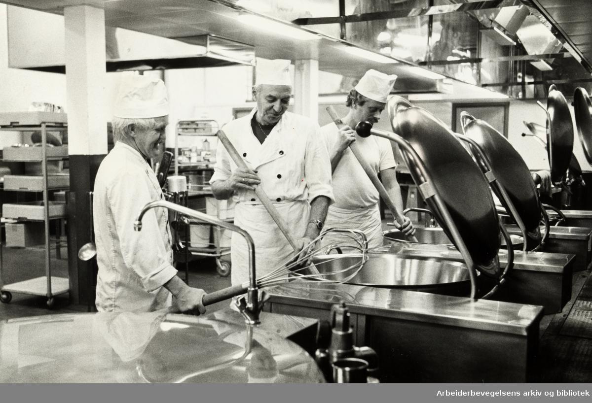 Kretsfengselet, Botsfengselet. Kjøkkenet. Oktober 1981
