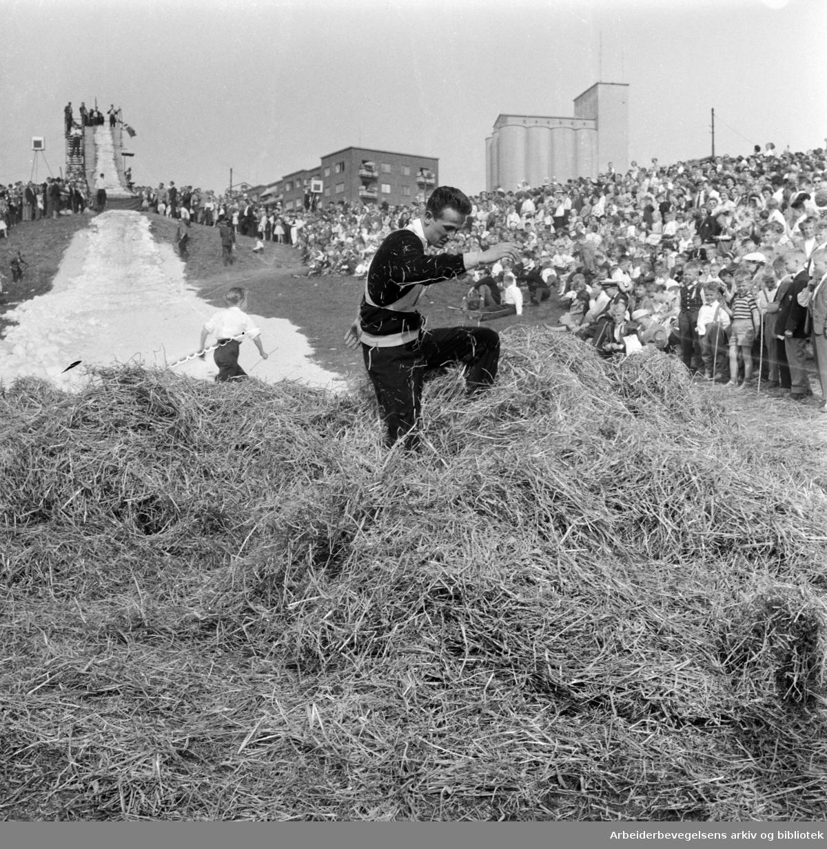 Hopprenn i Torshovdalen, arrangert av Idrettslaget Skeid. 17. mai 1960.
