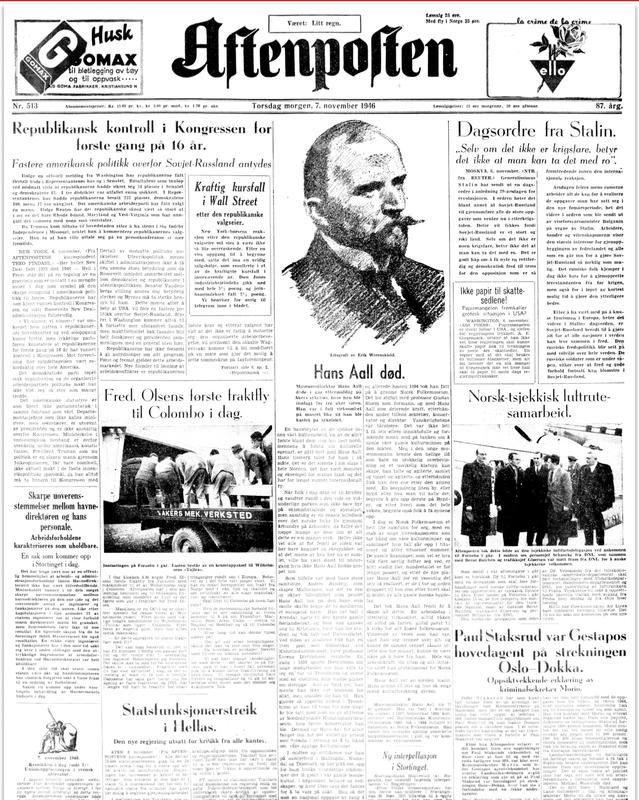Aftenposten 1946