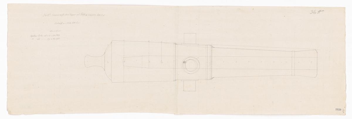 Konceptritningar till sjökanoner