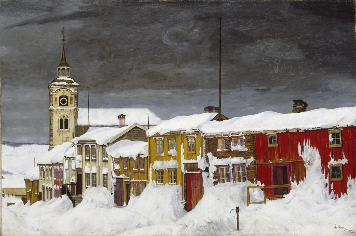 Harald Sohlberg, Gate i Røros, 1903. Nasjonalmuseet. (Foto/Photo)