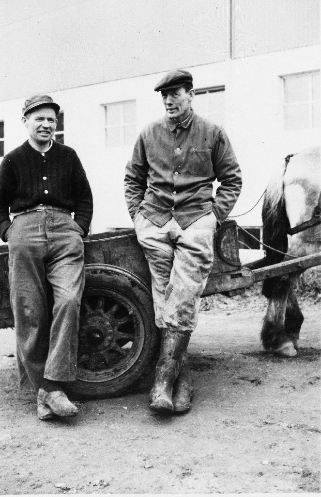 Syskenborna Lars og Olav Aasland.