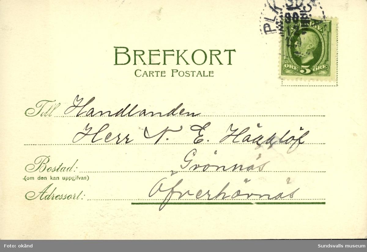 Vykort med motiv över Johannisberg.