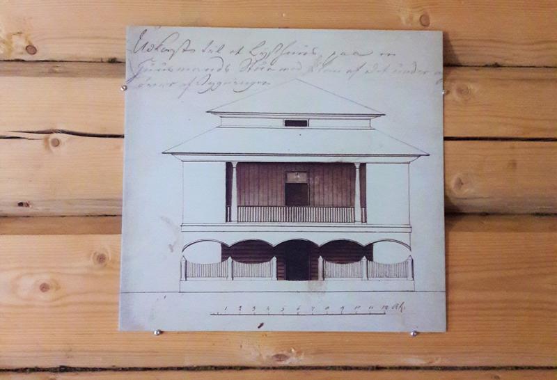 Tegning av det originale lysthuset. (Foto/Photo)