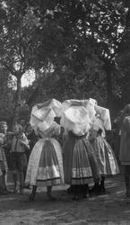 Motiv: Utlandet, Spreewald 92 - 101 ; Kvinnor i folkdräkt f