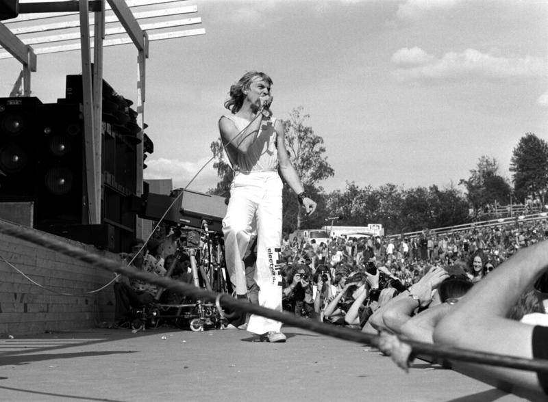Jahn Teigen med Popol Ace på Ragnarock i 1974. Foto: Aage Storløkken (Foto/Photo)